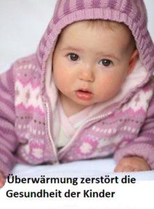 Krankes, überwärmtes Baby atmet durch den Mund
