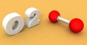 Sauerstoffmolekül metaphorisch dargestellt